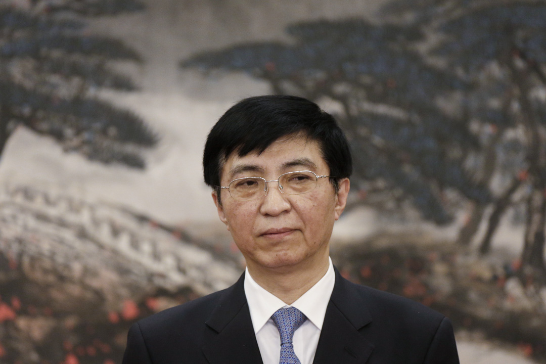 2017年10月25日,主管的意識形態領域的中共政治局常委王滬寧。