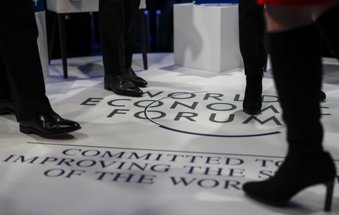 2019年世界經濟論壇於1月22日在瑞士達沃斯開幕。 攝:Jason Alden/Bloomberg via Getty Images