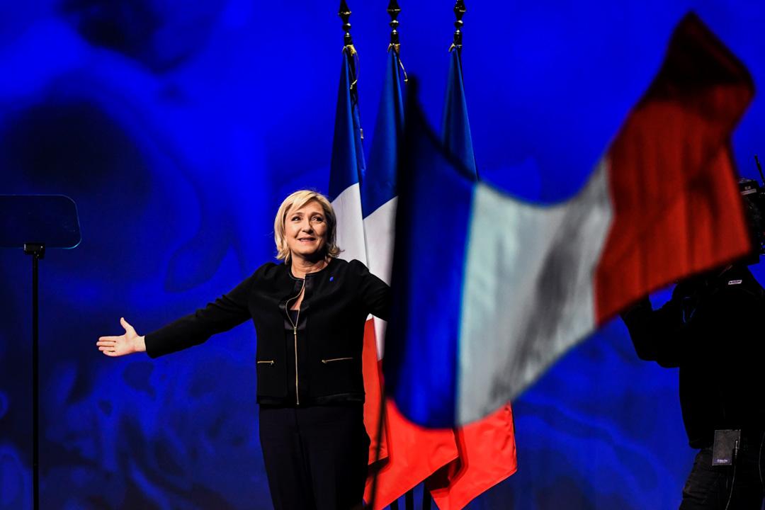 法國總統選舉極右翼參選人瑪琳勒龐(Marine Le Pen)。