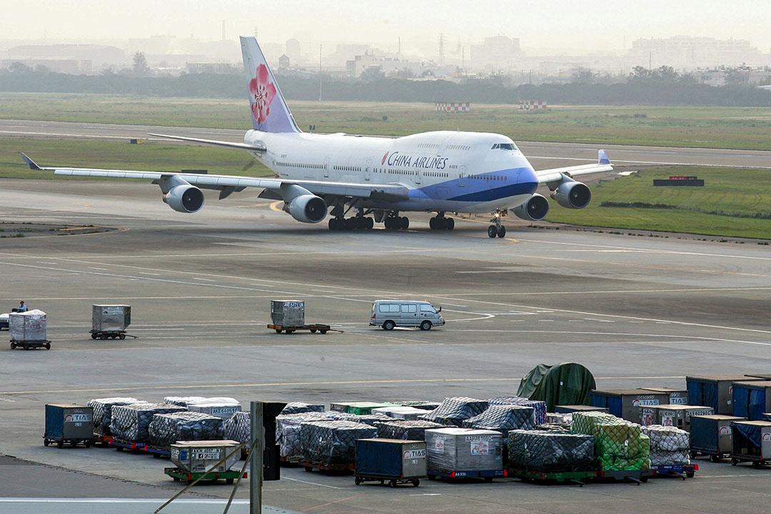 圖為一輛中華航空客機。