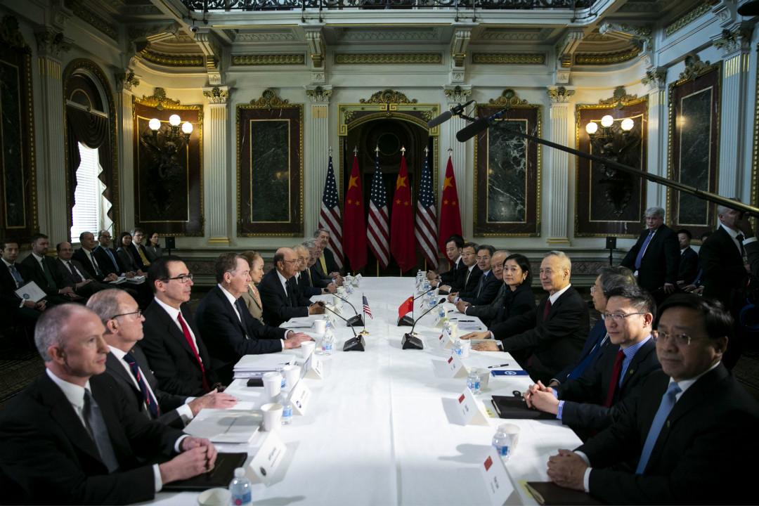 2019年2月21日,中美貿易談判高級代表在華盛頓舉行會談。 攝:Al Drago/Getty Images