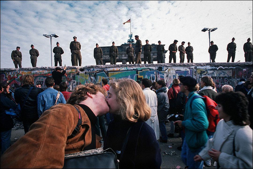 1989年11月11日,德國柏林圍牆。