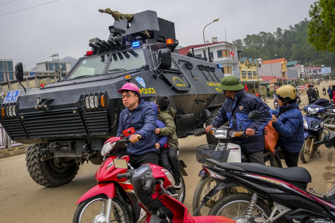 2019年2月25日,為迎接於越南舉行的第二次美朝首腦峰會,保安升級,有裝甲車在市內行走。