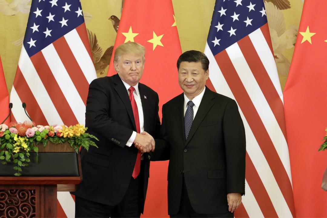 2017年11月9日,特朗普與習近平在北京會面。 攝:Qilai Shen/Getty Images