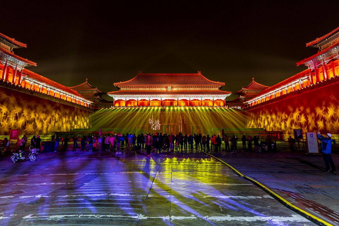 2019年2月18日,北京故宮燈光秀。 攝:Imagine China
