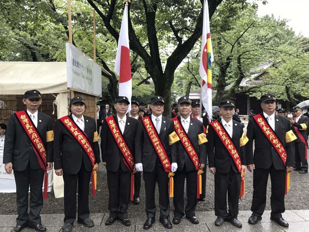 台灣民政府網頁有他們到靖國神社慰靈祭的圖片。
