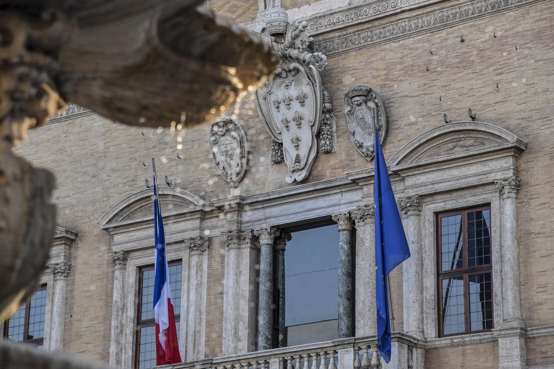 2019年2月7日,法國宣布召回其駐意大利大使克里斯蒂安·馬塞(Christian Masset),以抗議意大利對法國內政的「干涉」。 攝:Tizana Fabi/AFP/Getty Images