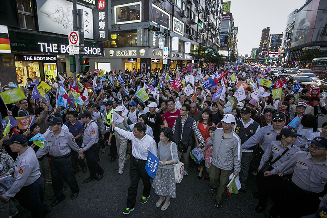 2014年11月23日,台北市長候選人柯文哲。