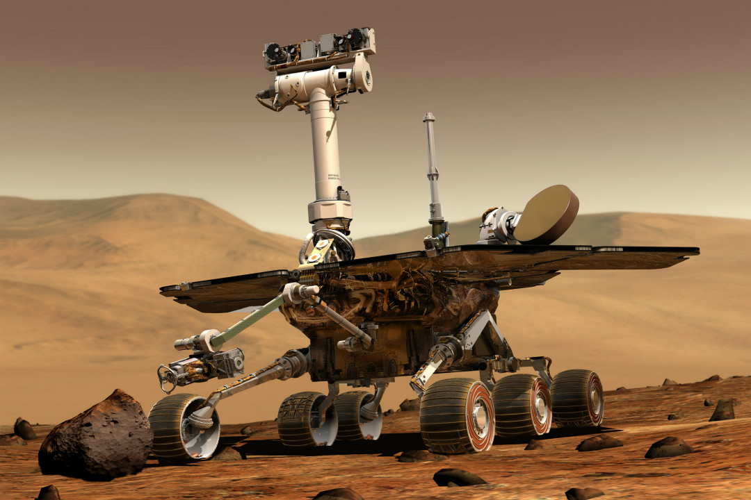 2019年2月13日,美國太空總署(NASA)宣布火星探測車「機遇號」(Opportunity)項目終結。 攝:Imagine China