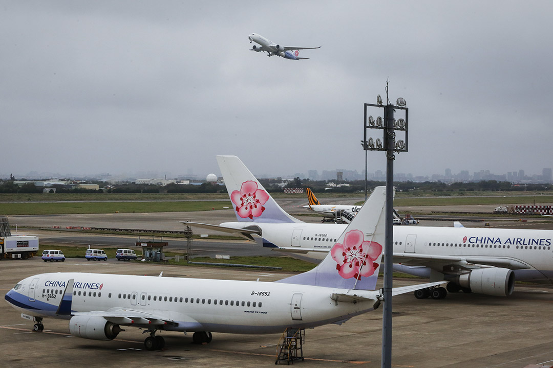 2019年2月8日,中華航空的客機。