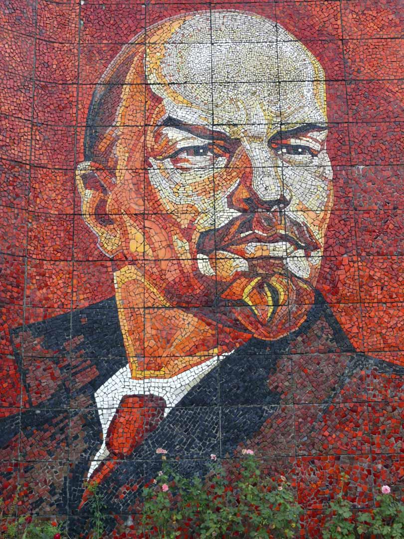 列寧肖象。