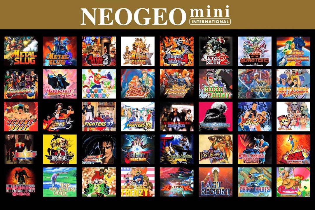 neogeo mini的遊戲