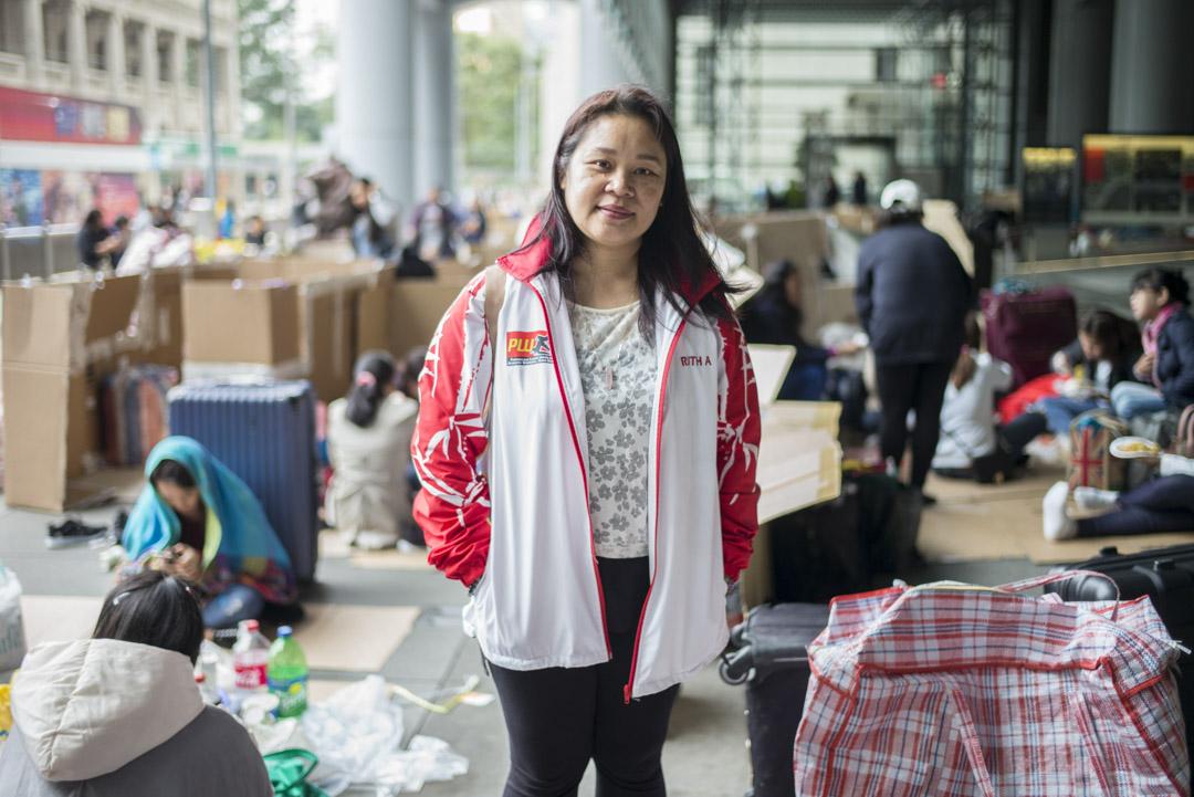 菲律賓工會PLUDW-HK 的助理秘書和教育組組長Ruth。
