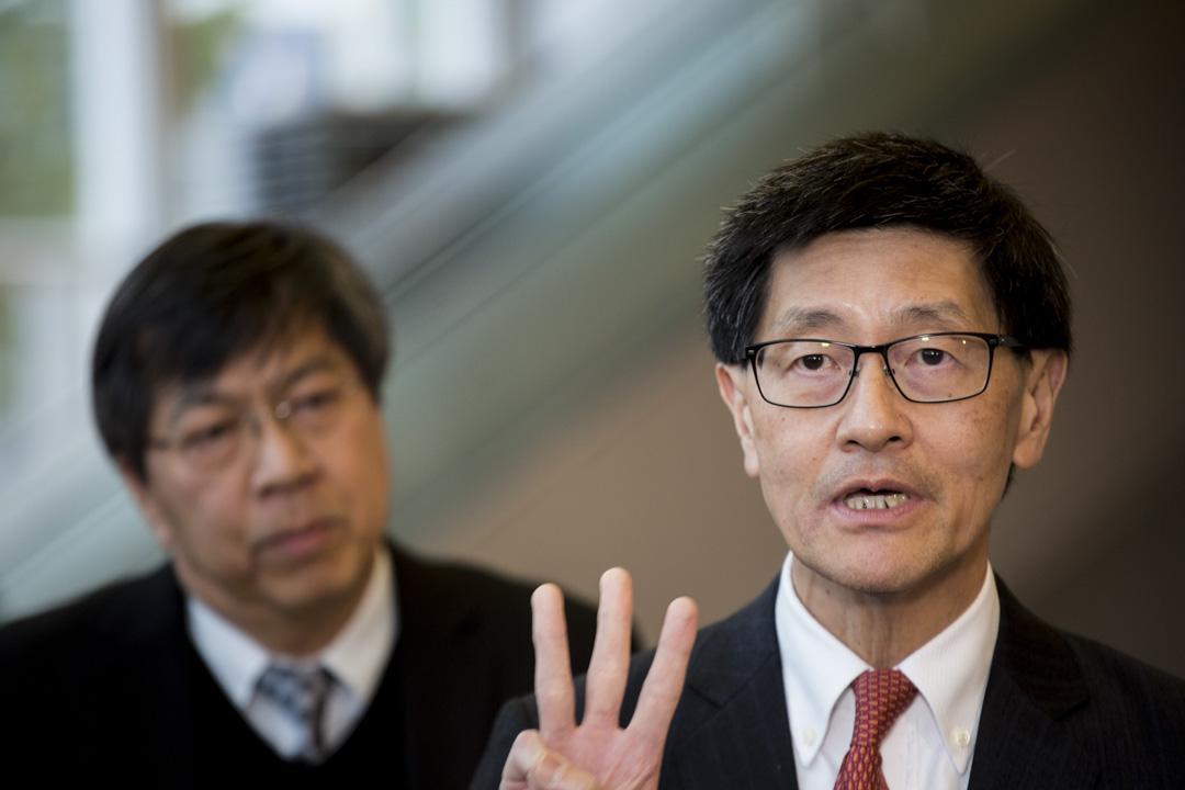 2019年1月30日,港鐵行政總裁梁國權、工程處總經理周蘇鴻,在政府記者會後見傳媒,回應指控。