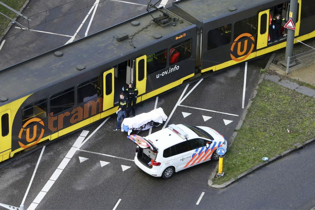 2019年3月18日,荷蘭烏得勒支(Utrecht)市發生電車槍擊案,造成至少三人死亡。 攝:Ricardo Smit/Getty Images