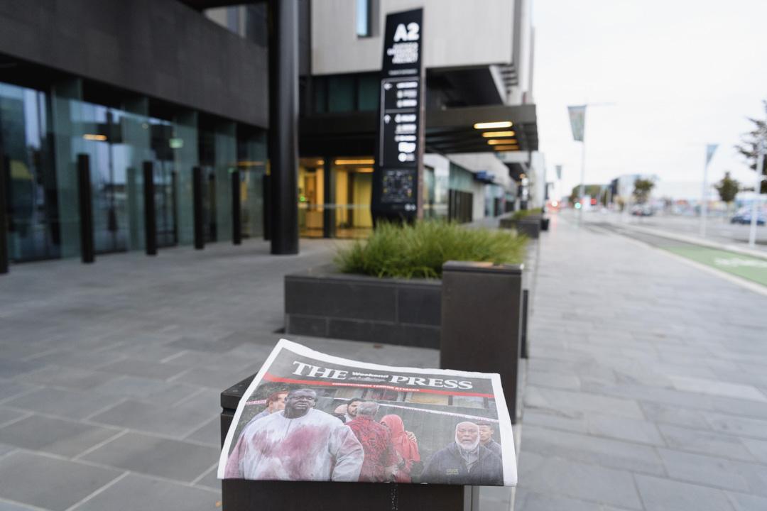 2019年3月16日,新西蘭基督城的地區報紙The Press以基督城屠殺案作為封面報導。