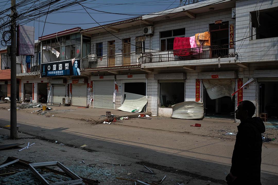 2019年3月24日,陳家港鎮王商村的街道。