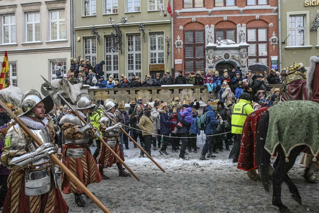 2017年1月6日,波蘭格但斯克(Gdansk)舊城舉行三王節遊行。