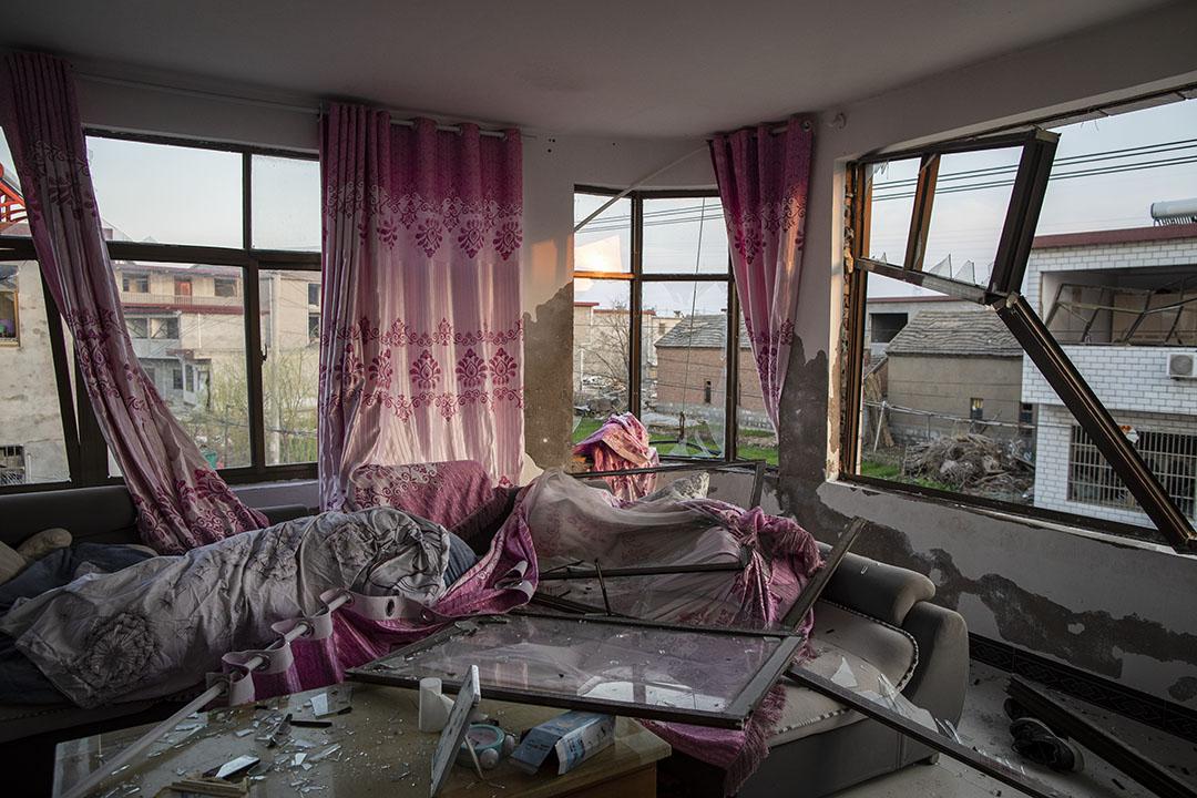 2019年3月24日,一間接近化工廠的王商村民居。