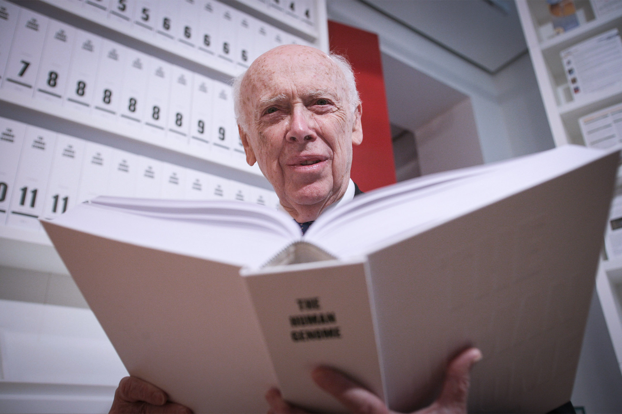 諾貝爾獎生理及醫學獎得主詹姆斯·沃森 James Dewey Watson。 攝:Graham Barclay/Bloomberg via Getty Images