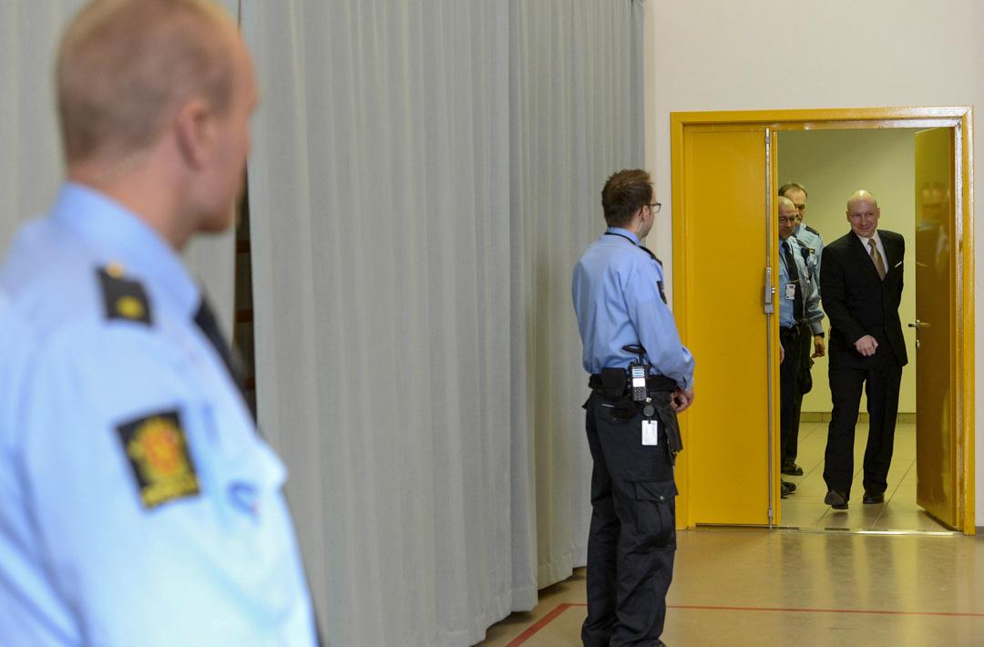 2016年3月15日,挪威恐怖襲擊事件的犯人,右翼極端分子Anders Behring Breivik。