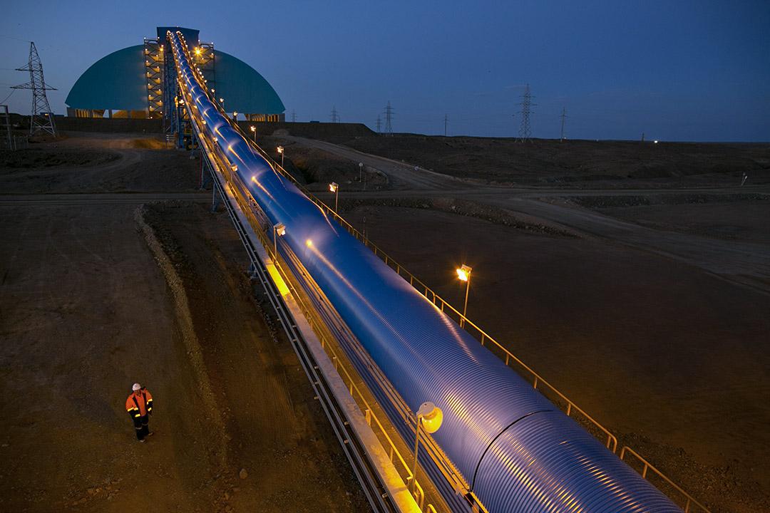 2012年10月10日,蒙古Khanbogd地區的採礦場。