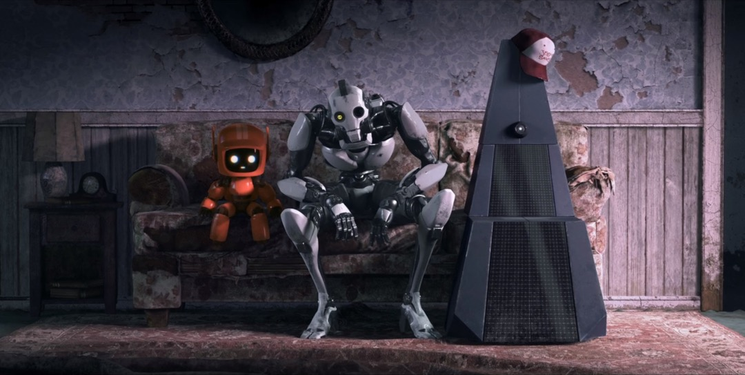 《愛‧死‧機器人》之《三個機器人》截圖。