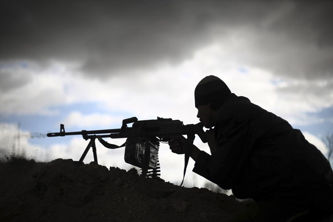 敘利亞反政府組織Jaish al-Islam成員與政府軍發生衝突。