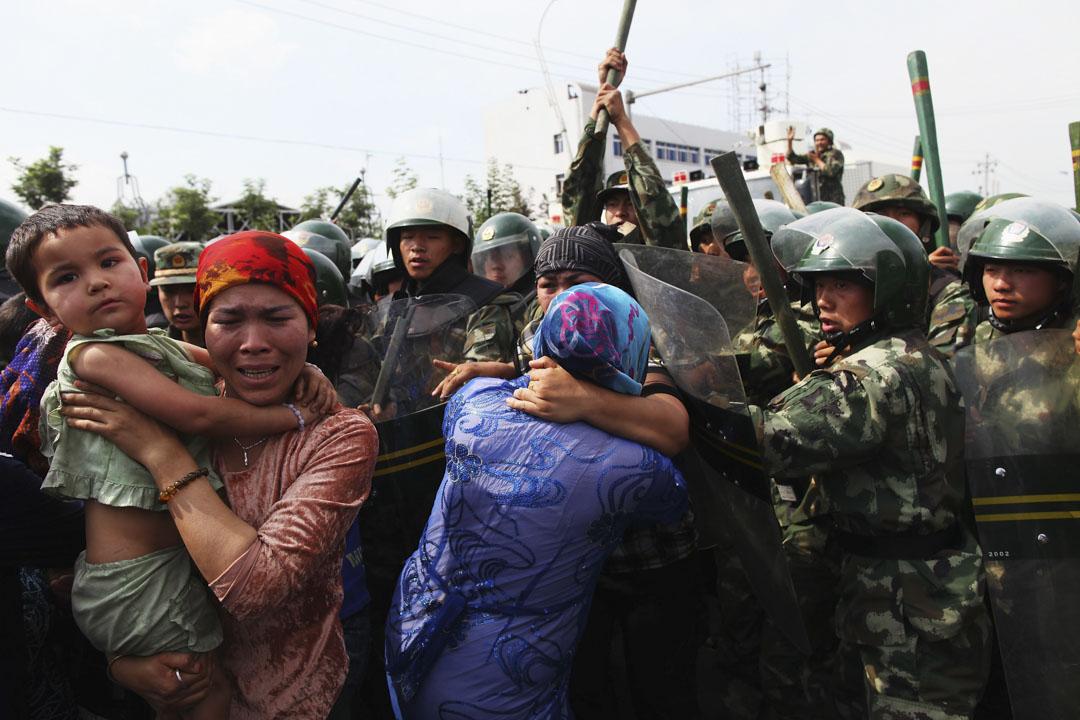 2009年7月,新疆烏魯木齊市爆發民族衝突。