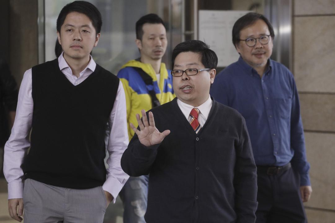 2019年3月15日,2017年報稱被擄走的民主黨成員林子健,今日於西九龍裁判法院被裁定「虛報有人犯罪」罪成,判監5個月,林獲准保釋等候上訴。 圖:端傳媒