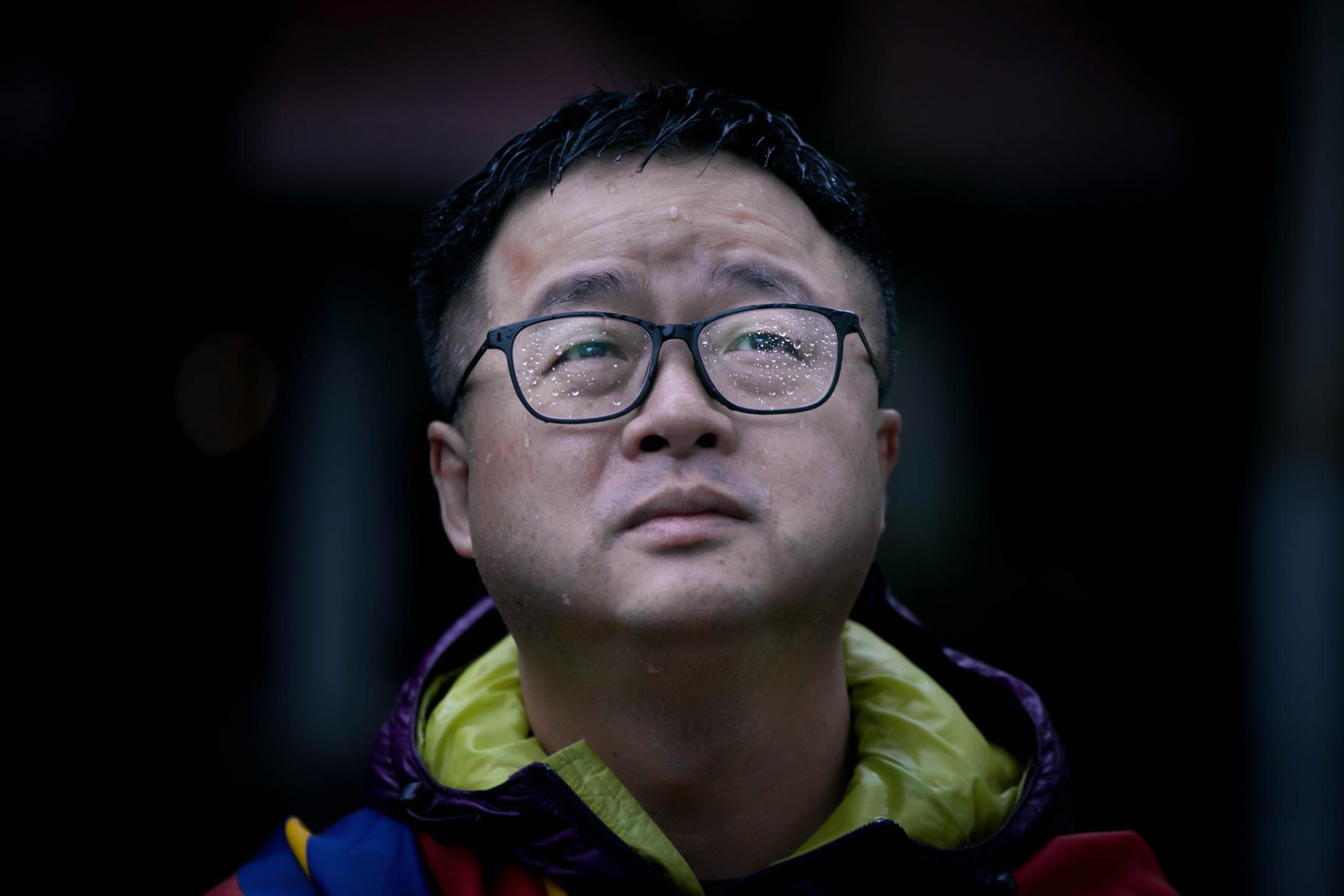 2019年3月10日,羅文嘉參加西藏抗暴60周年遊行。 攝:陳焯煇/端傳媒