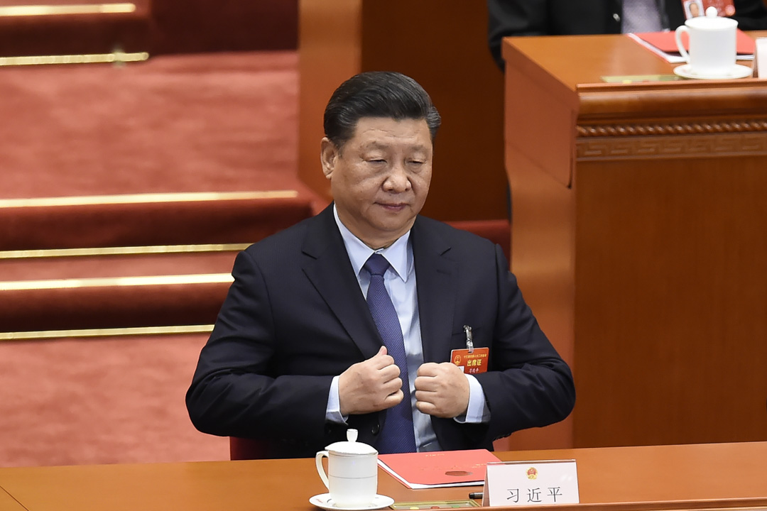 2019年3月15日,國家主席習近平出席北京人民大會堂舉行的全國人大會議閉幕式。