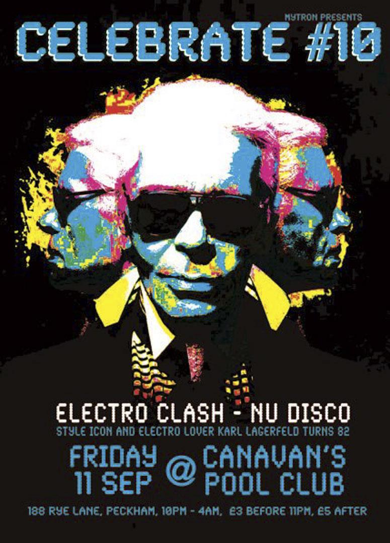 Karl Lagerfeld 於82歲時做的一個electronic klash party。