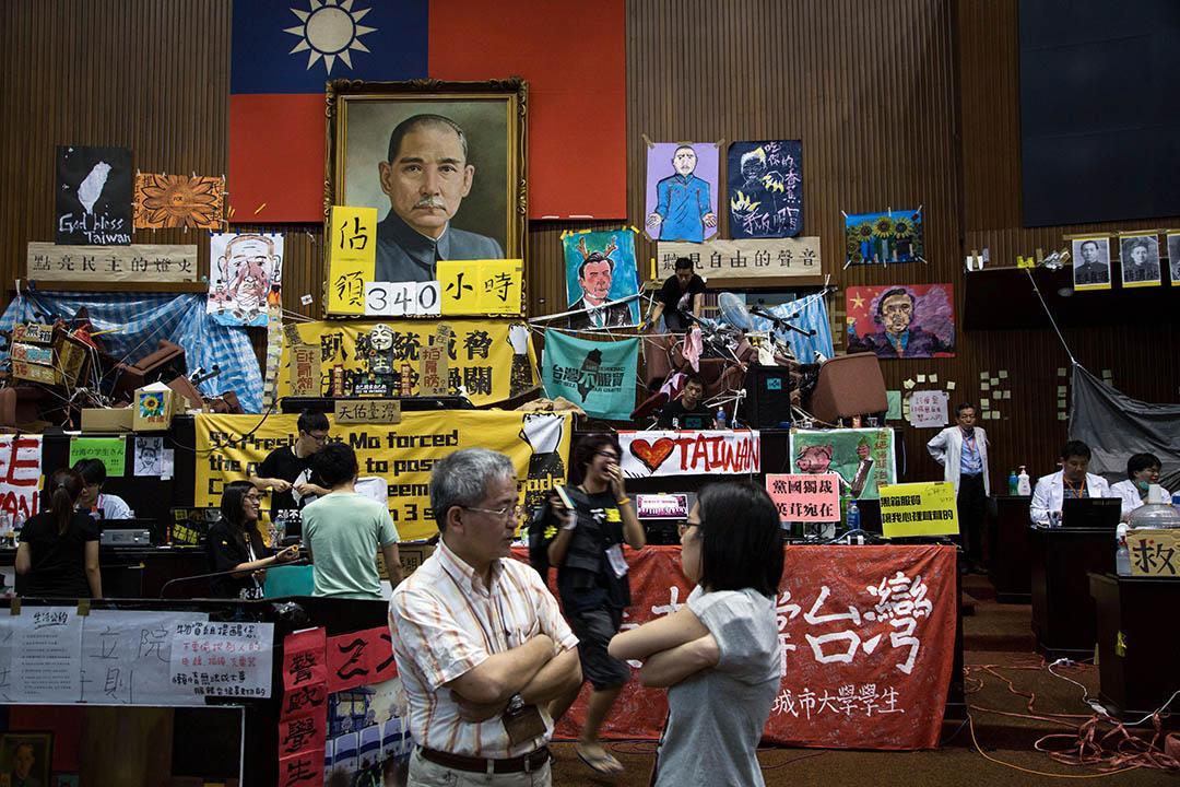 2014年3月31日,台灣學生佔領立法院的第14天。