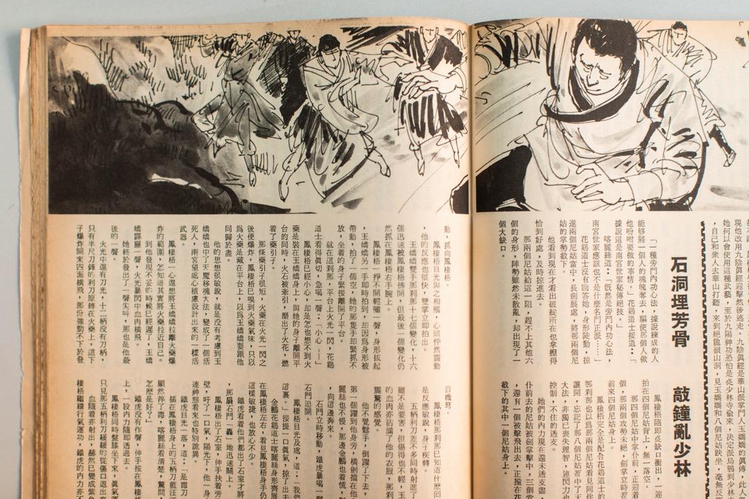 早期雜誌加入不少插圖,《武俠世界》內不少插圖和封面均出自著名畫家董培新之手,這亦是《武俠世界》質素較兩家高之原因。