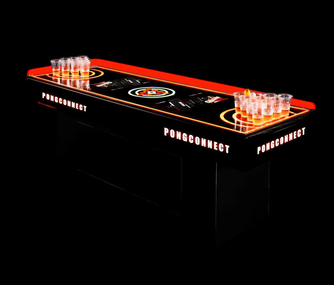 本土科創企業研發的全球首部電子自動計分投杯球枱機 - PONGConnect。