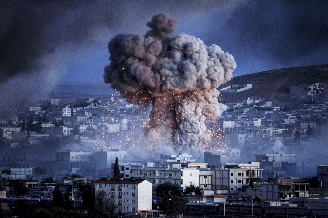 2014年10月20日,伊斯蘭國武裝分子在敘利亞的Kobani市中心進行自殺式汽車炸彈襲擊。