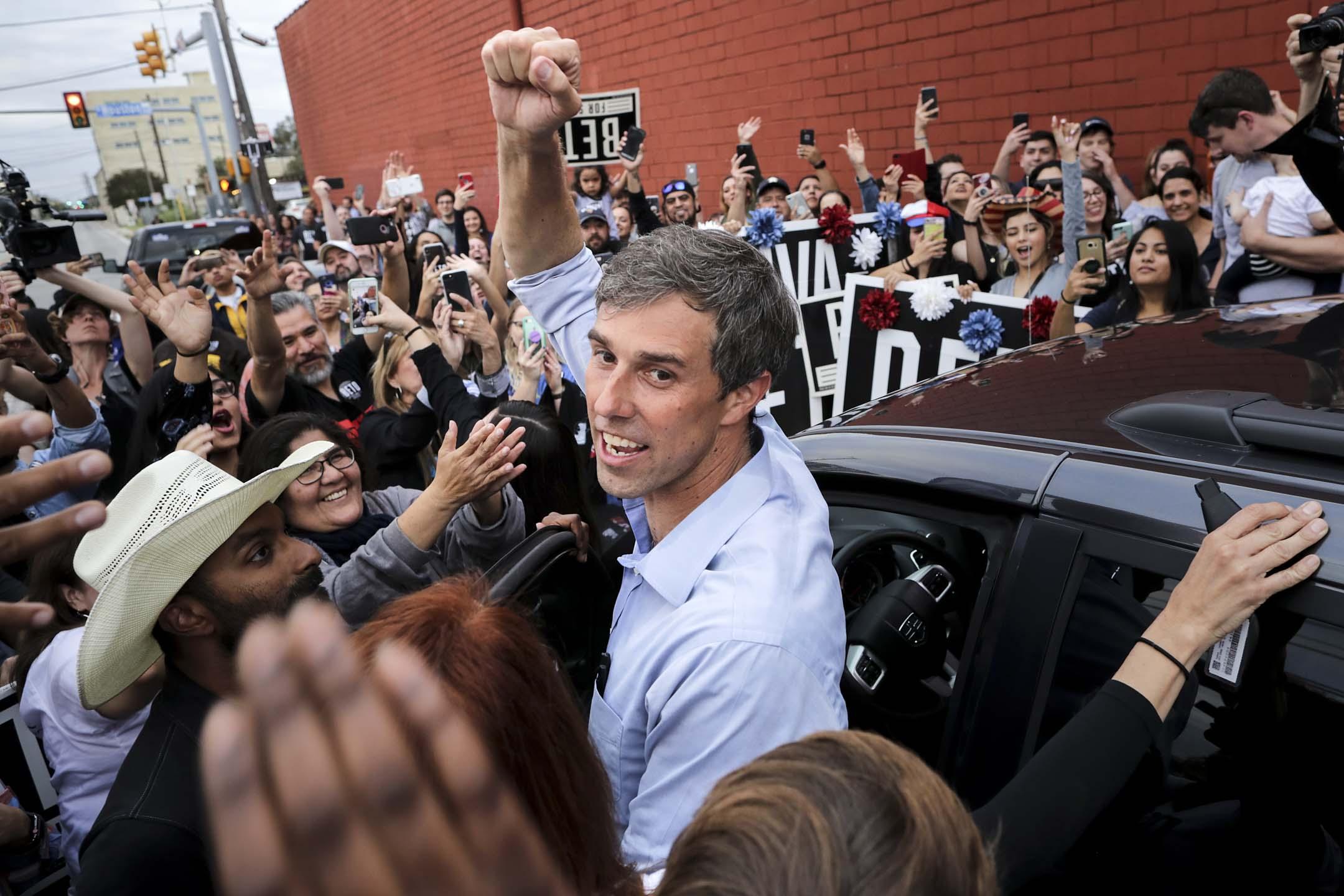 2019年3月14日,來自德州的 Beto O'Rourke 宣布競選民主黨 2020 總統候選人。 攝:Chip Somodevilla/Getty Images