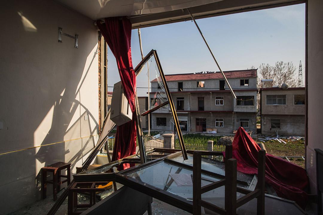 2019年3月23日,王商村一間遭受破壞的房子。