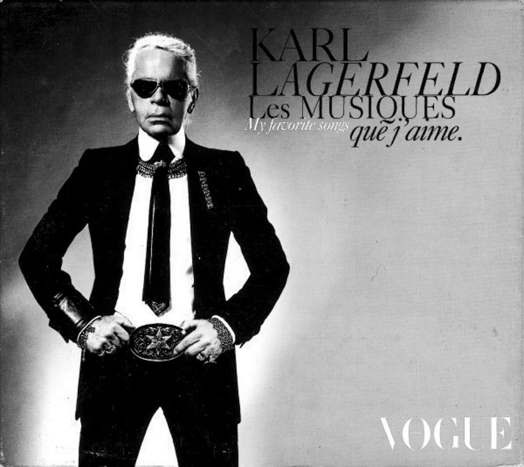 Karl Lagerfeld 親自上陣,為自己設計封面造型完成拍攝,黑白色調將個人鮮明的標誌展現的淋灕盡致。