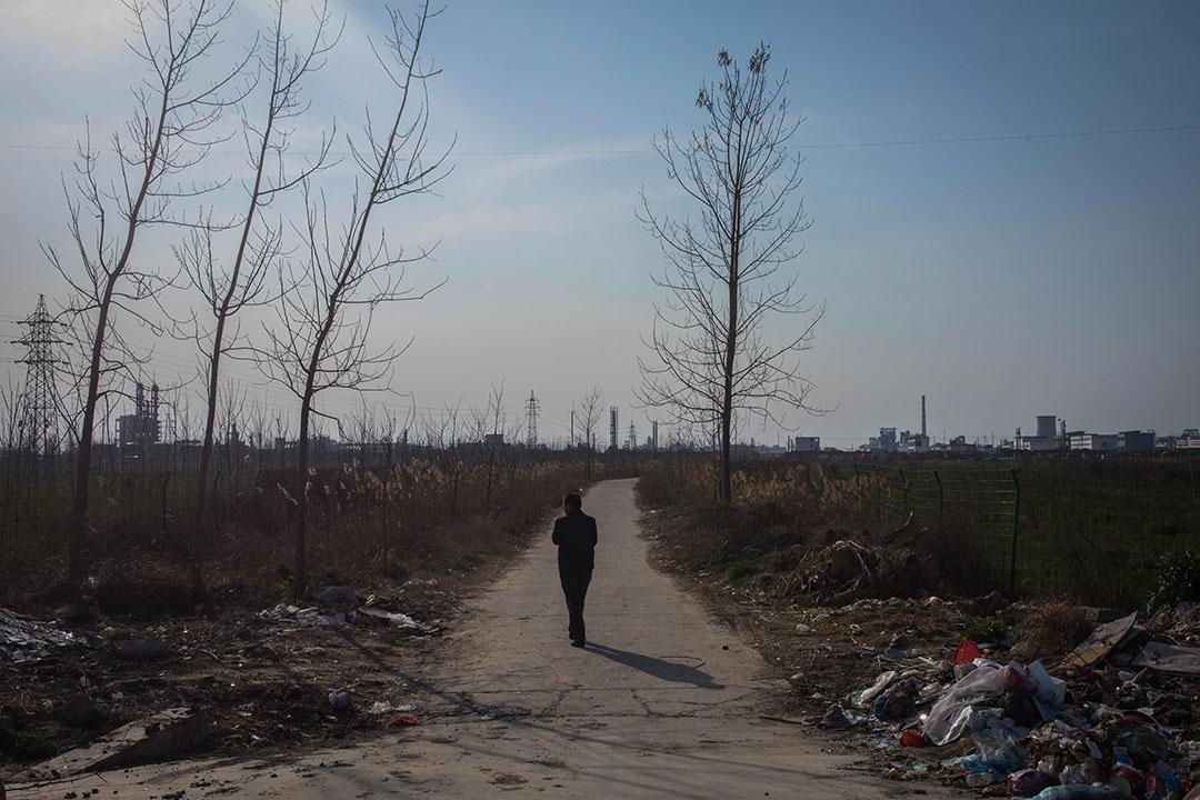 2019年3月23日,王商村距離化工廠區僅幾百米的距離。