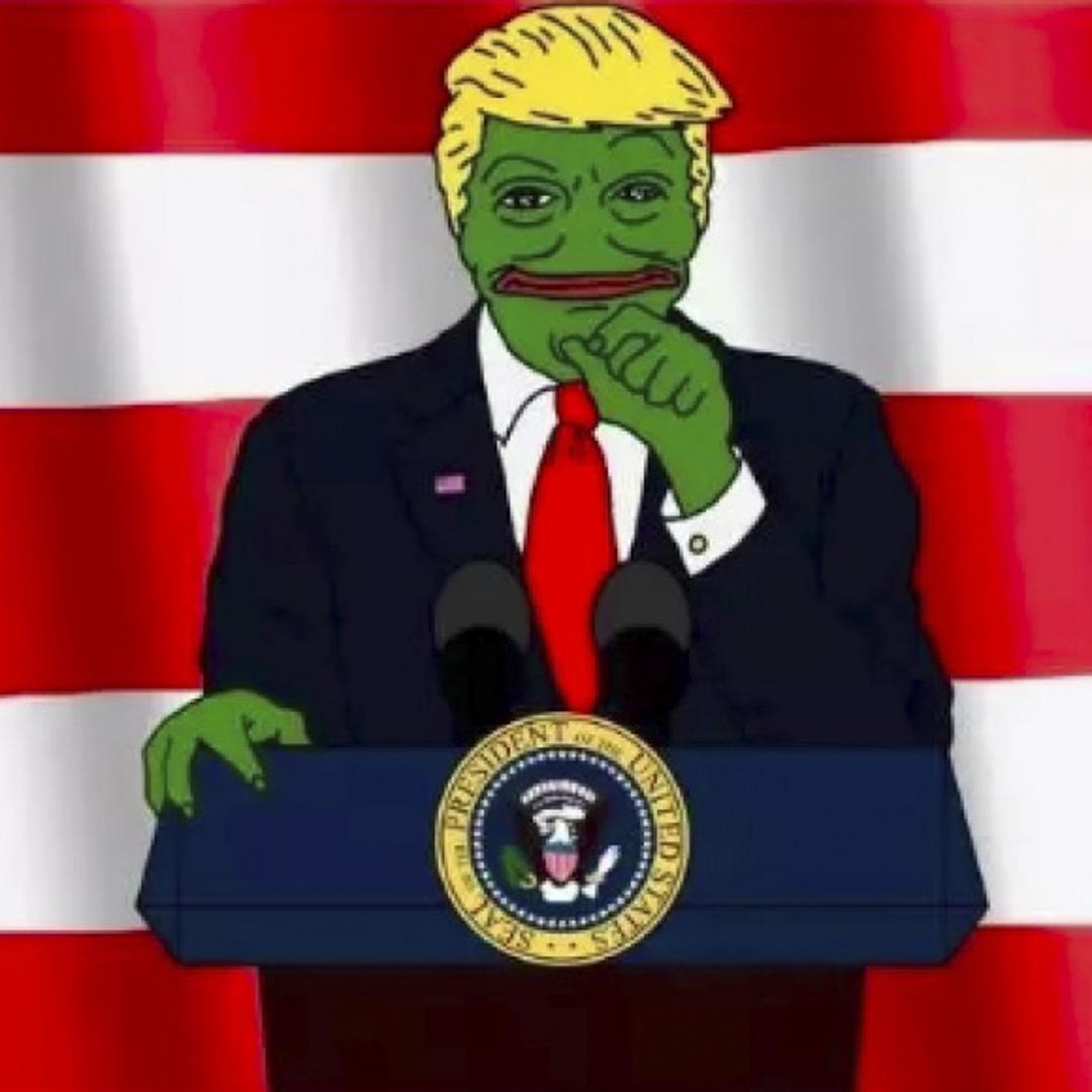悲傷蛙Pepe原本只是普通的meme,因其高使用率與獨特的外形,被4chan改造為白人至上主義的標誌形象。