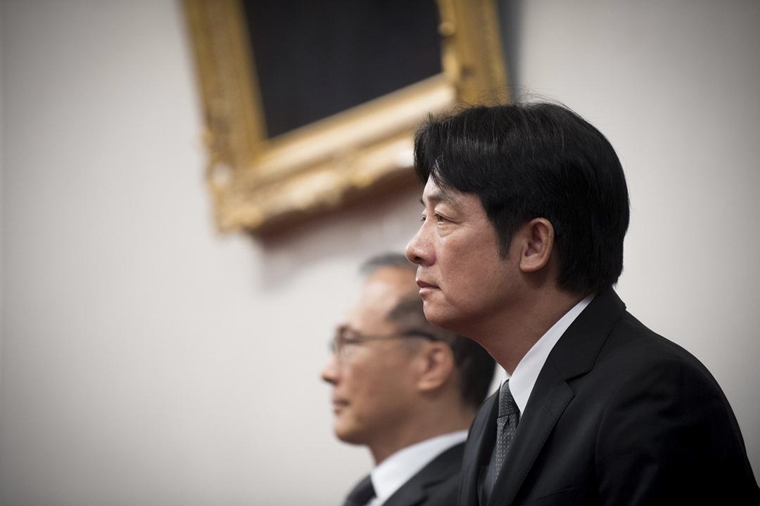圖為2017年9月5日,台灣總統蔡英文舉行記者會,宣布任命賴清德為行政院院長。 圖片來源:東方 IC