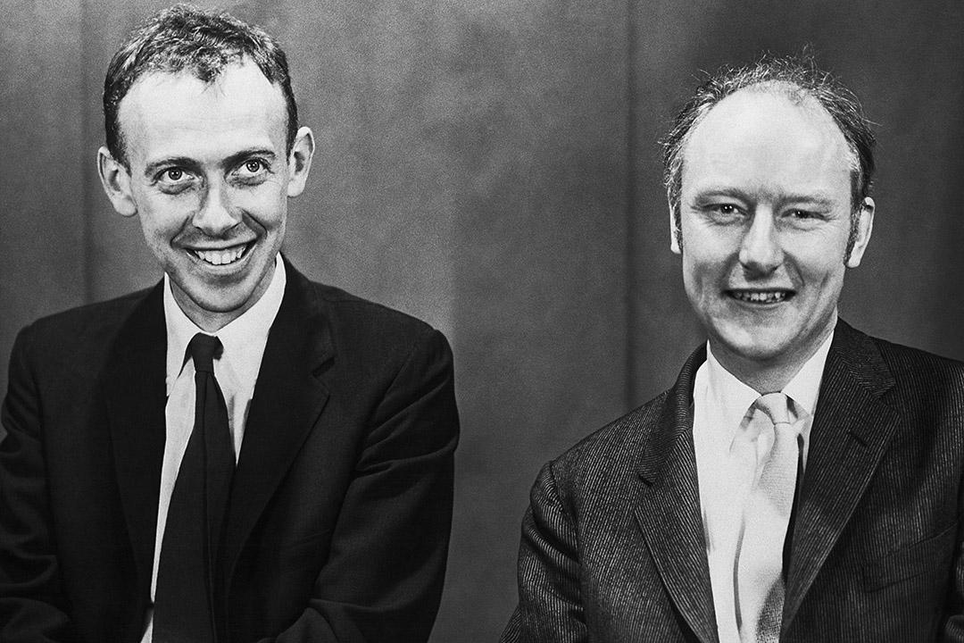 詹姆斯·沃森和克里克(Francis Crick)。