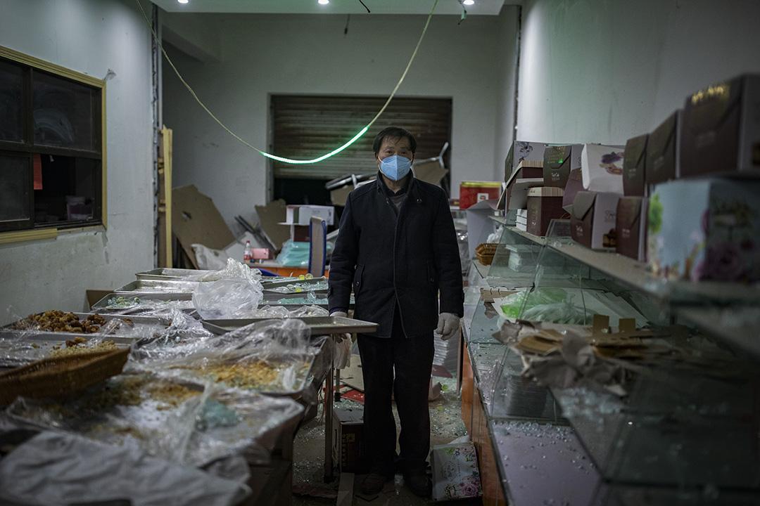 2019年3月23日,响水鄉王商村的麵包店。