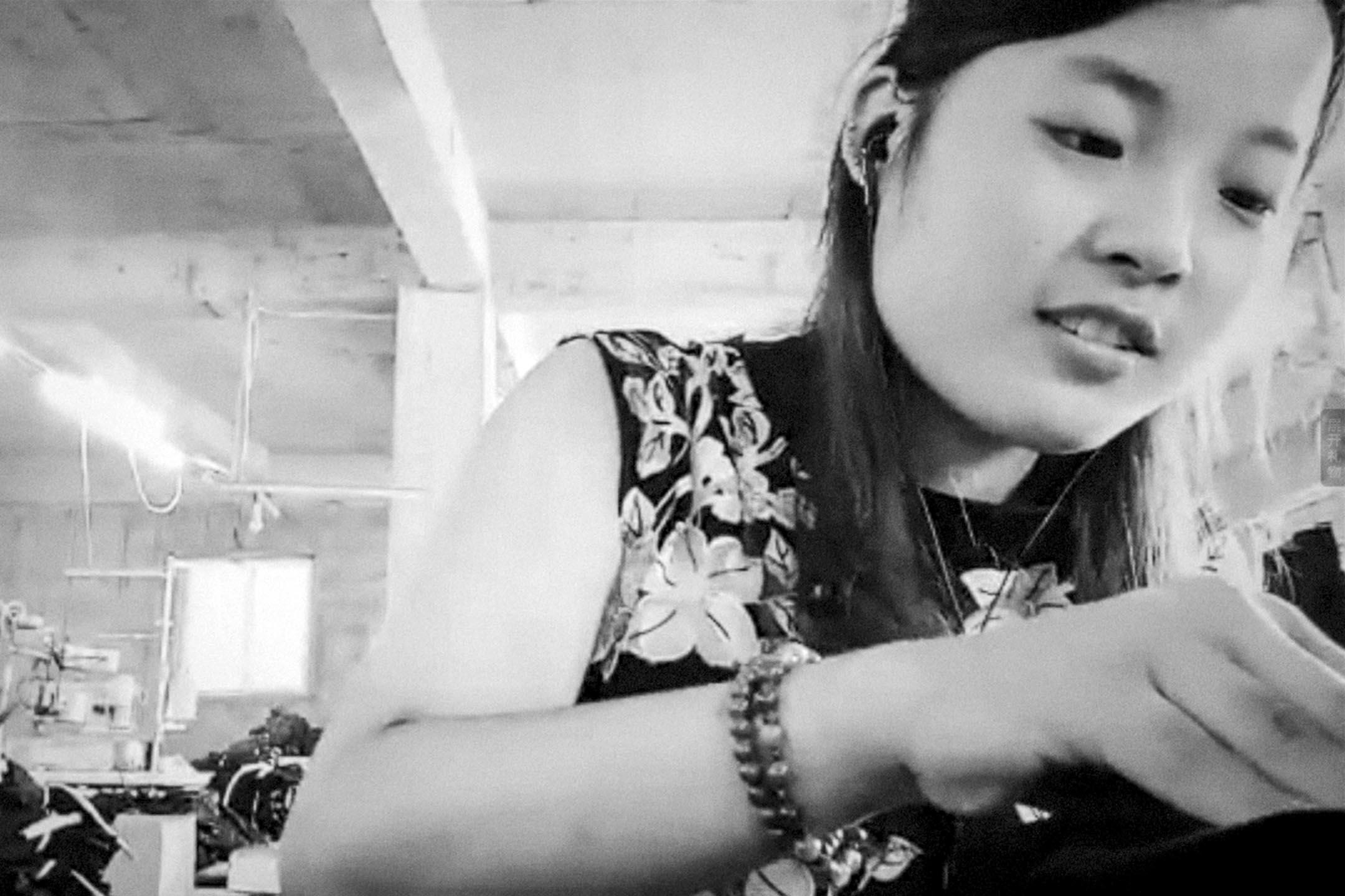朱聲仄的最新作品《完美現在時》(Present.Perfect.,2019)全由網路直播畫面剪接而成,帶有紀錄片本色,主題聚焦於中國當前火紅的直播現象。 圖:受訪者提供