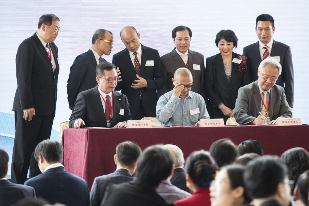 2019年3月22日,高雄市市長韓國瑜出席香港中華出入口商會友好合作協議簽署暨高雄市經貿介紹會。 攝:林振東/端傳媒