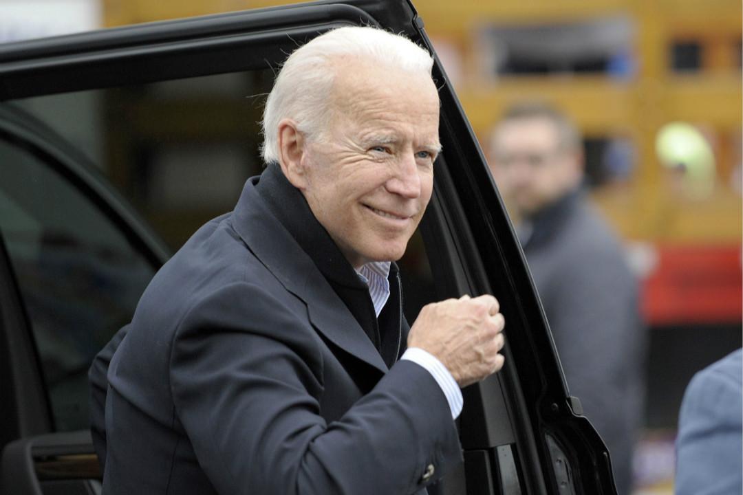 2019年4月18日,美國麻省波士頓,前副總統拜登(Joe Biden)參加工人罷工集會並發表演講。