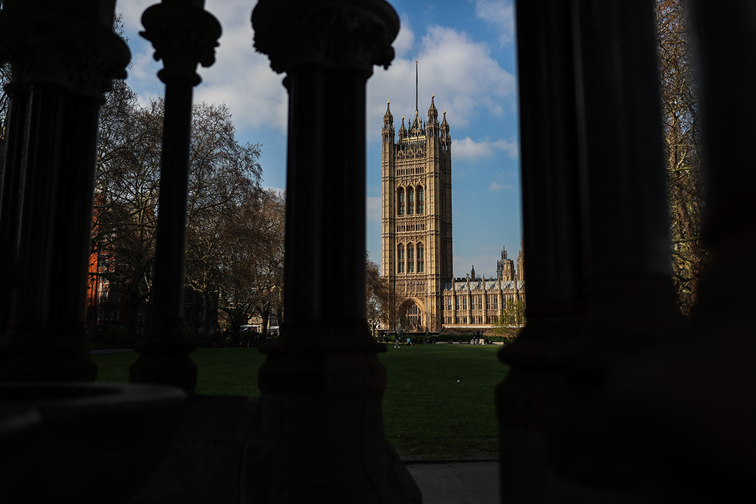 2019年3月28日,英國倫敦國會大廈。