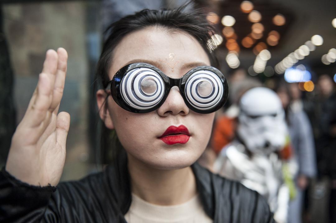 2018年4月1日,哈爾濱有人以快閃慶祝愚人節。 攝:Tao Zhang/Getty Images
